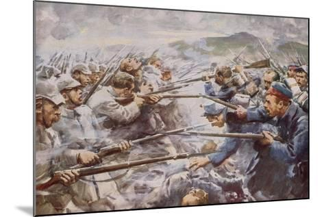 Belgians Repelling a Fierce German Attack at Liege-Arthur C. Michael-Mounted Giclee Print
