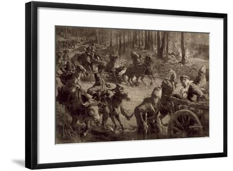 German Troops with Spoils of War and Prisoners and Captured Cattle-Felix Schwormstadt-Framed Art Print