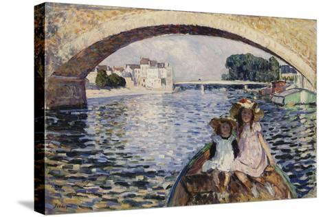 Young Girls on a Barge; Jeunes Filles En Barques, 1903-Henri Lebasque-Stretched Canvas Print