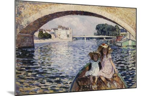 Young Girls on a Barge; Jeunes Filles En Barques, 1903-Henri Lebasque-Mounted Giclee Print