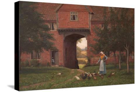 Hales Old Hall, Hales Green, Near Norwich, Norfolk, 1913-Edmund Blair Leighton-Stretched Canvas Print
