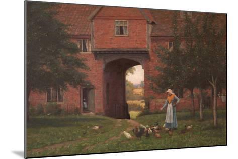 Hales Old Hall, Hales Green, Near Norwich, Norfolk, 1913-Edmund Blair Leighton-Mounted Giclee Print