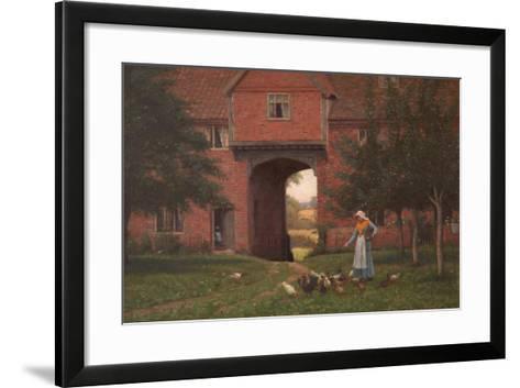 Hales Old Hall, Hales Green, Near Norwich, Norfolk, 1913-Edmund Blair Leighton-Framed Art Print
