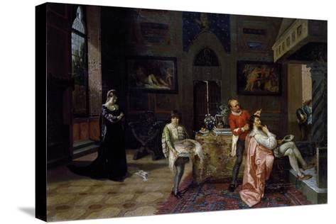 Revenge of Veronica Cybo, 1874-Francesco Saverio Altamura-Stretched Canvas Print