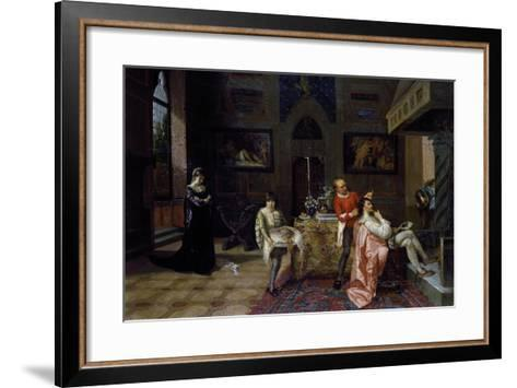 Revenge of Veronica Cybo, 1874-Francesco Saverio Altamura-Framed Art Print