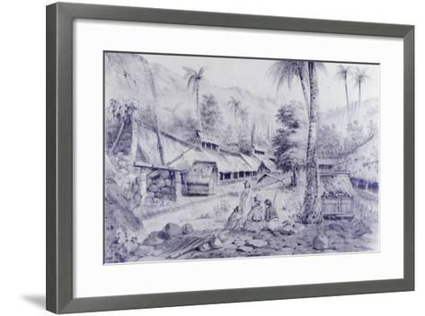 Nuku Hiva, Marquesas Islands-Maximilien-Rene' Radiguet-Framed Art Print