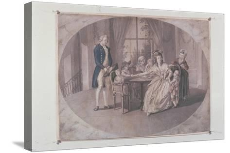 Illustration from 'The Sorrows of Young Werther'-Johann Heinrich Ramberg-Stretched Canvas Print