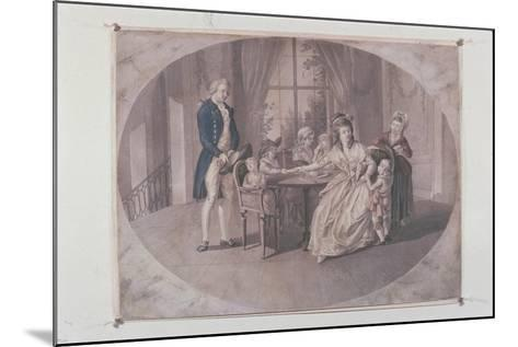 Illustration from 'The Sorrows of Young Werther'-Johann Heinrich Ramberg-Mounted Giclee Print