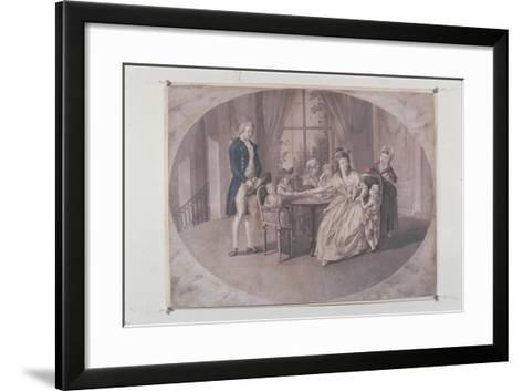 Illustration from 'The Sorrows of Young Werther'-Johann Heinrich Ramberg-Framed Art Print