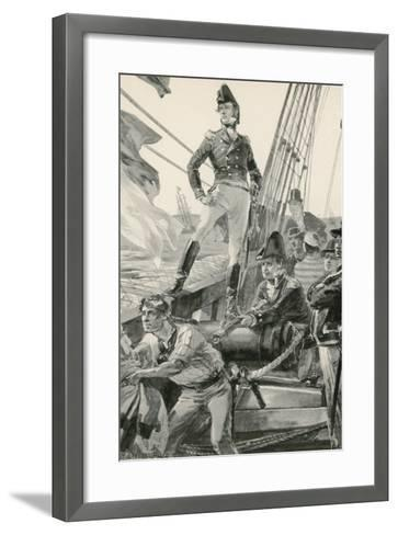 Lord Cochrane Signals for Assistance to Attack the French Fleet-William Heysham Overend-Framed Art Print
