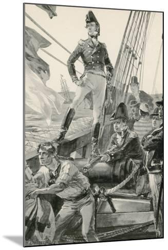 Lord Cochrane Signals for Assistance to Attack the French Fleet-William Heysham Overend-Mounted Giclee Print
