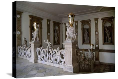 Decorative Putti on Marble Staircase-Georg Raphael Donner-Stretched Canvas Print