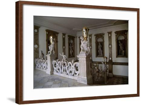 Decorative Putti on Marble Staircase-Georg Raphael Donner-Framed Art Print