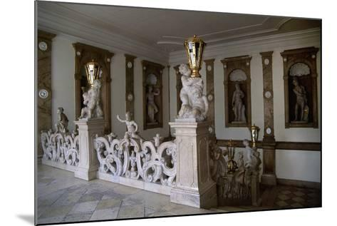 Decorative Putti on Marble Staircase-Georg Raphael Donner-Mounted Giclee Print