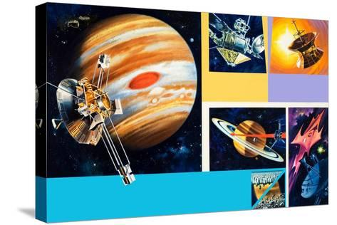 Early Unmanned Space Missions to the Outer Planets-Wilf Hardy-Stretched Canvas Print
