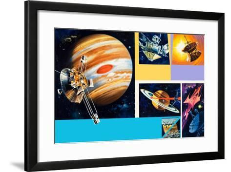 Early Unmanned Space Missions to the Outer Planets-Wilf Hardy-Framed Art Print