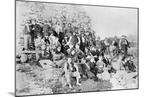 Inhabitants of Achill Island, County Mayo, Ireland, 1890-Robert French-Mounted Giclee Print