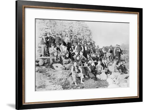 Inhabitants of Achill Island, County Mayo, Ireland, 1890-Robert French-Framed Art Print