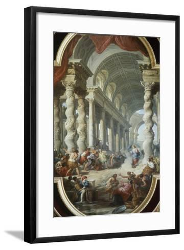 Jesus Stoned in the Temple-Giovanni Paolo Panini-Framed Art Print