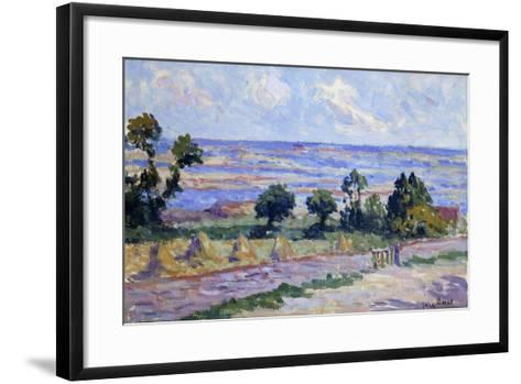 Haystacks by the Sea; Meules Au Bord De La Mer, 1914-Maximilien Luce-Framed Art Print