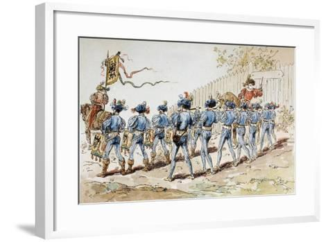 A 16th Century Marching Band with Drums and Fifes, 1886-Armand Jean Heins-Framed Art Print
