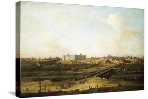 Madrid and the Palacio Real from the West Bank of the Manzanares, 1752-53-Antonio Joli-Stretched Canvas Print