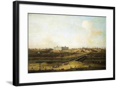 Madrid and the Palacio Real from the West Bank of the Manzanares, 1752-53-Antonio Joli-Framed Art Print