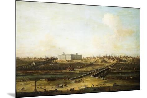 Madrid and the Palacio Real from the West Bank of the Manzanares, 1752-53-Antonio Joli-Mounted Giclee Print
