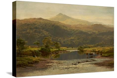 Scene on the Llugwy with Moel Siabod in the Distance, 1870-Benjamin Williams Leader-Stretched Canvas Print