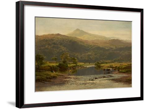 Scene on the Llugwy with Moel Siabod in the Distance, 1870-Benjamin Williams Leader-Framed Art Print