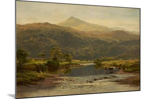 Scene on the Llugwy with Moel Siabod in the Distance, 1870-Benjamin Williams Leader-Mounted Giclee Print