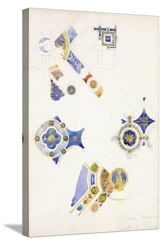 Certosa Di Pavia, Studies of the Ceiling Decoration, 1891-Charles Rennie Mackintosh-Stretched Canvas Print