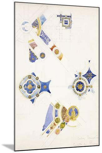 Certosa Di Pavia, Studies of the Ceiling Decoration, 1891-Charles Rennie Mackintosh-Mounted Giclee Print