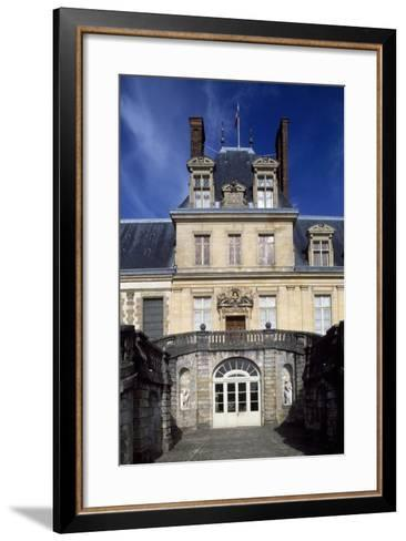 Horseshoe Staircase in Court of Honour, 1634-Jean Du Cerceau Androuet-Framed Art Print