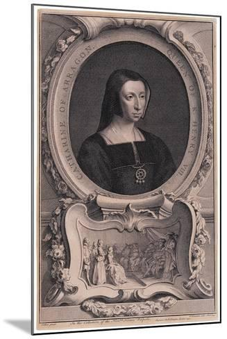 Portrait of Katherine of Aragon, after Arthur Pond-Jacobus Houbracken-Mounted Giclee Print