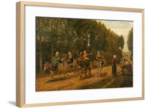 The Sluggard, Market Women, Brittany, France, 1876-Arthur Hughes-Framed Art Print