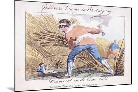 Gulliver's Voyage to Brobdignag, Discovered in the Corn Field, 1805--Mounted Giclee Print