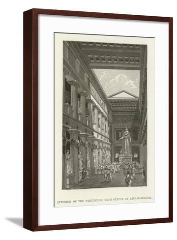 Interior of the Parthenon, with Statue of Pallas-Athene--Framed Art Print