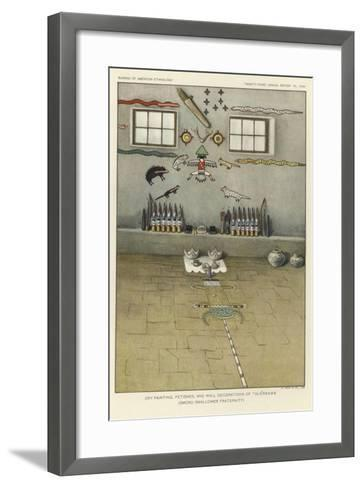 Dry Painting, Fetishes, and Wall Decorations of Thlewekwe--Framed Art Print