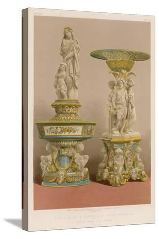 Portion of a Porcelain Table Service by Messrs Goode and Co, London--Stretched Canvas Print