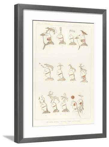 An Ogalala Roster - 'The-Bear-Spares-Him' and Band--Framed Art Print