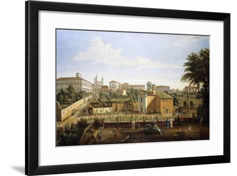 The Church of Ss. Marcellino E Pietro, from the Vigna Ciccolini-Gaspar van Wittel-Framed Art Print