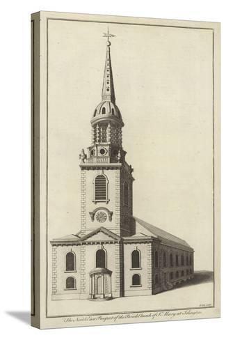 The North East Prospect of the Parish Church of St Mary at Islington--Stretched Canvas Print