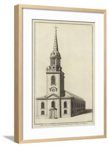 The North East Prospect of the Parish Church of St Mary at Islington--Framed Art Print