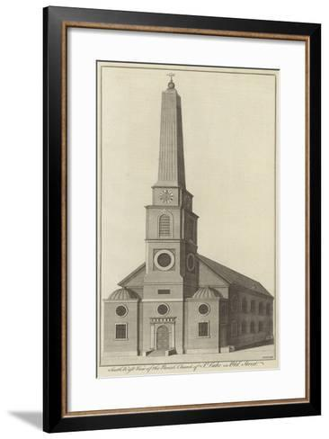 South West View of the Parish Church of St Luke in Old Street, London--Framed Art Print