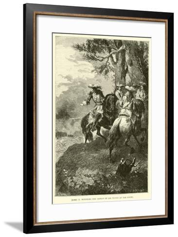 James II Witnesses the Defeat of His Troops at the Boyne--Framed Art Print