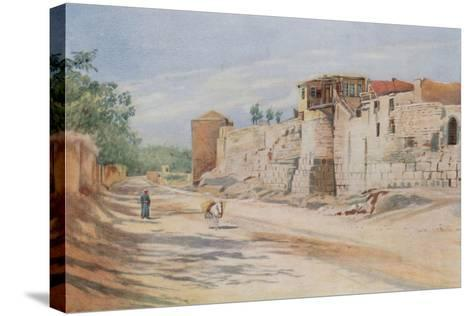 Traditional Site Where St. Paul Was Let Down in a Basket, Damascus-Walter Spencer-Stanhope Tyrwhitt-Stretched Canvas Print