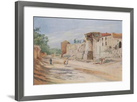 Traditional Site Where St. Paul Was Let Down in a Basket, Damascus-Walter Spencer-Stanhope Tyrwhitt-Framed Art Print