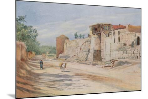 Traditional Site Where St. Paul Was Let Down in a Basket, Damascus-Walter Spencer-Stanhope Tyrwhitt-Mounted Giclee Print