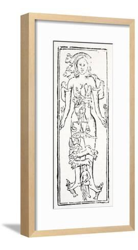 The Parts of the Body Which Control Each Zodiac Sign--Framed Art Print